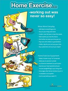 Home Exercise Poster