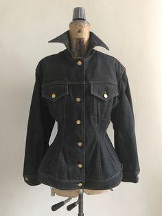 Sono entusiasta di condividere questo articolo del mio negozio #etsy: madame gaultier Jean Paul Gaultier, I Shop, Etsy, Jeans, Jackets, Shopping, Fashion, Down Jackets, Moda