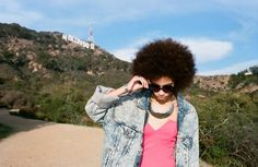 I always wanted an afro like this.