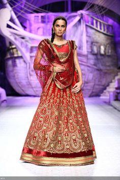 July 23, 13: Sonalika Sahay for JJ Valaya http://www.valaya.com/ on Day 1 of Aamby Valley India Bridal Fashion Week, New Delhi
