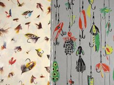 Are you an avid fly fisherman, or do you know one? If so, this set of fishing lure themed gift wrap is a must-have. This lot includes 2 designs.