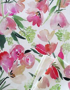 lovely Yao Cheng Design spring flora composition tea towel