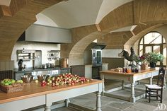 Newly restored kitchen - Easton Neston Revived : Former home of The Hesketh Family, direct descendants of the Fermor Family who built Easton Neston   Architectural Digest