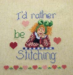 Id Rather Be Stitching