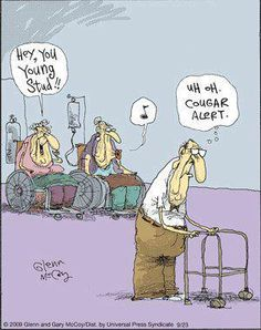 (( cougar alert )) LOL, haha, funny nursing humor