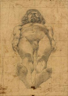 Giovanni Segantini (Swiss, 1858-1899), Eroe morto, c.1878. Pencil on paper, 38.9 x 27.9 cm.