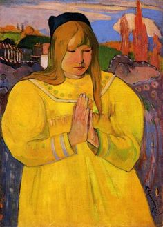 Young Christian Girl - Paul Gauguin. brittany, symbolism. simpler/primitive