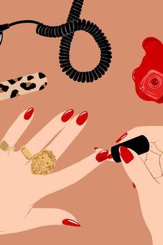 Enjoy my ladies. Beauty Illustration, Digital Illustration, Art Illustrations, Cute Wallpapers, Wallpaper Backgrounds, Blog Backgrounds, Arte Indie, Nail Logo, Art Mignon