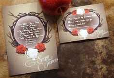 Snow White themed Invitations