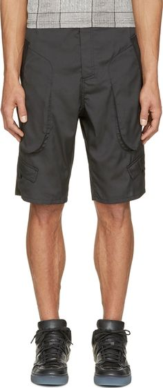 Alexander Wang: Black Matrix Cargo Shorts