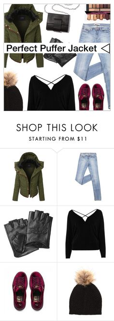 """Perfect Puffer Jackets"" by shambala-379 ❤ liked on Polyvore featuring LE3NO, MM6 Maison Margiela, Karl Lagerfeld, River Island, Puma and puffers"