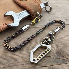 """2st cadenas de remolque remolque collar /""""plata/"""" la edad media con mosquetón joyas"""