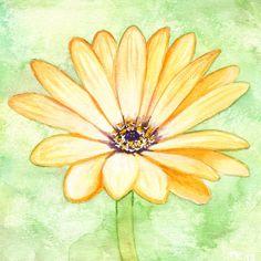 "Aquarelle ""Aster orange"" par Savousepate - http://www.alittlemarket.com/peintures/aquarelle_aster_orange_non_encadree-6178595.html"