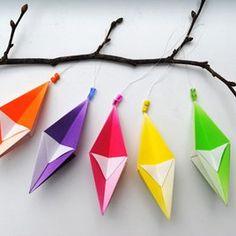Origami homemade Christmas ornaments by Mini-Eco