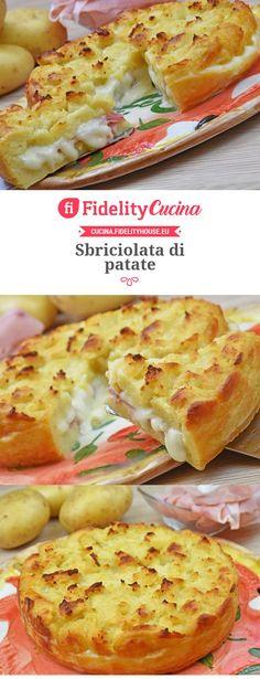 Sbriciolata di patate Fingers Food, My Favorite Food, Favorite Recipes, Yummy Food, Tasty, Quiches, Creative Food, I Foods, Italian Recipes