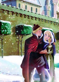 Anna and Kristoff<<you mean ELSA and Kristoff. Walt Disney, Anna Disney, Disney Couples, Disney Love, Disney Magic, Disney Frozen, Disney Art, Disney Princess, Disney Ships