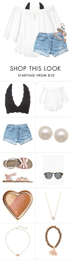 """""""omg y'all rtd """" by classynsouthern ❤ liked on Polyvore featuring Charlotte Russe, Rebecca Taylor, Levi's, Honora, Toast, Illesteva, Too Faced Cosmetics, Adina Reyter and Kendra Scott"""