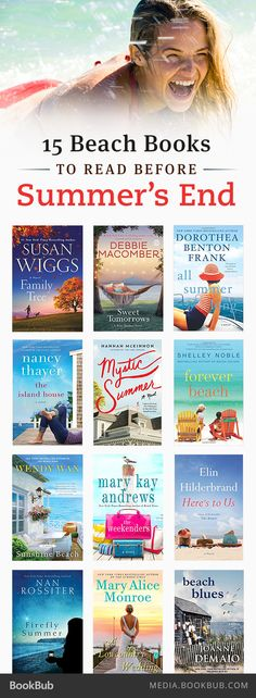 15 beach books to read before summer's end!