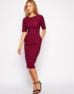 ASOS Midi Wiggle Dress in Texture