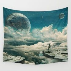 Wall Tapestry featuring The Explorer by Seamless