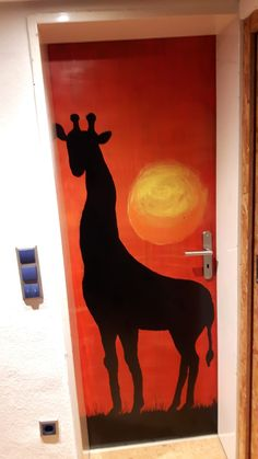 Door - Giraffe - Africa Tanzania, Giraffe, Moose Art, Africa, Doors, Animals, Home Decor, Giraffes, Animales