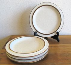 Fabrik Stoneware Side/Salad Plates-Set of 4 by MarketHome on Etsy, $48.00