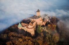 Photo aérienne du Château du Haut-Koenigsbourg - Bas-Rhin (67)