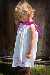 Little Birdie Secrets: vintage pillowcase dress. . .don't go, summer!