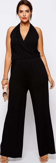Black Plus Size Jumpsuit - READ Plus Size Dresses Tops for Summer 2014 -   http://www.boomerinas.com/2014/08/13/summer-dresses-and-tops-in-plus-sizes-2014-styles/