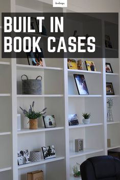 DIY Built-In Shelves using Ikea Billy Bookcase Hack : How to build a beautiful DIY Library Office Shelving using the IKEA Billy Bookcase Hack Diy Built In Shelves, Home Decor Shelves, Home Decor Items, Ikea Shelves, White Shelves, Book Shelves, Ikea Furniture, Home Office Furniture, Furniture Online