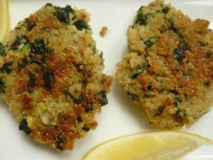 Weekday Vegetarian: Quinoa and Kale Patties : TreeHugger  Not quite vegan, but could be.