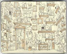 Delightful illustration by illustrator Mattias Adolfsson of Stockholm, Sweden