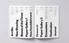 """thedesignerandthegrid: """"Contents page of Elephant magazine, design by Atlas. """""""