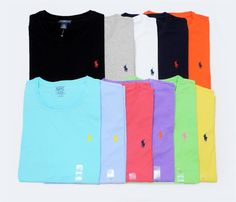 travismartinek's save of NWT Ralph Lauren POLO Mens Cotton T-shirt TEE CUSTOM FIT New! on Wanelo$25