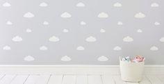 Wipe-Clean Wallpaper, Clouds