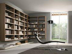 Sectional modular wooden bookcase Crossing MisuraEmme Collection by MisuraEmme | design Mauro Lipparini, CRS MisuraEmme