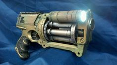 MODIFIED APOCALYPTIC GUN Nerf Maverick by SteampunkWasteland, $37.99 I love the addition of the flashlight plus it just looks so pretty