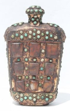 """Chinese hard stone and metal snuff bottle - 8 1/2"""" tall"""