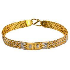 Multi Tone Gold Men's Bracelet W/ Wrist Watch Band & Aztec Arrow Design Mens Gold Bracelets, Mens Gold Jewelry, Baby Jewelry, Gold Jewellery Design, Handmade Jewelry, Harry Potter Jewelry, Gold Chains For Men, Arrow Design, Sell Gold