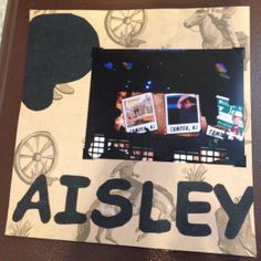 Brad Paisley Concert, Susquehanna Center Camden NJ: This one of our concerts with our Megaticket ... Page 5. This is a 8 by 8 scrapbook page that features a country themed paper along with letters cut with the Cricut machine.