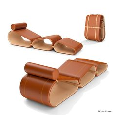Louis Vuitton portable lounge chair by Marcel Wanders- if it's hip, it's here
