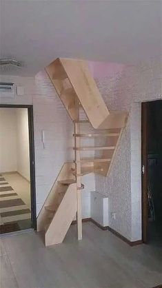 Tiny House Stairs, Attic Stairs, Attic House, Attic Ladder, Basement Stairs, Basement Ideas, Stairs Window, Loft House, Room Window