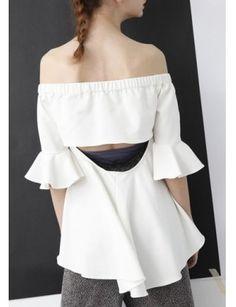 OLIVE Back Cut Out Off-Shoulder Top@ shopjessicabuurman.com