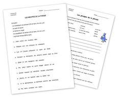 Grammaire - les groupes de la phrase 5P - 6P - Chez maîtresse Ecline