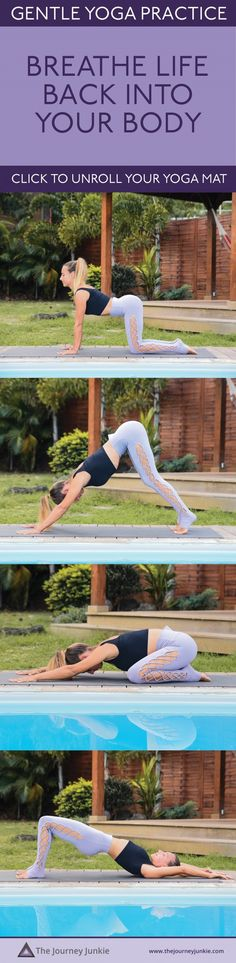 Gentle Yoga Class for Everyone: 10 Minute Practice to Breathe Life Back into Your Body – The Journey Junkie Everyones going crazy over these new Yoga … Yoga poses Beginner Yoga Workout, Pilates Workout, Workouts, Exercise, Yoga Routine For Beginners, Bedtime Yoga, Gentle Yoga, Yoga At Home, Free Yoga