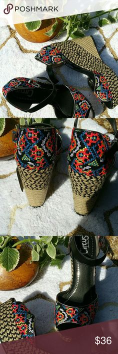 """ONE HR SALE So trendy and fun, true to size, from  Sam  Edelman collection """"CIRCUS """" Sam Edelman Shoes Espadrilles"""