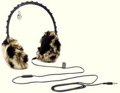NIB Juicy Couture Leopard Faux Fur Glamour Girl Earmuff Headphones in Gift Box…