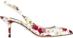 Dolce & Gabbana daisy and poppy print pumps