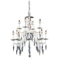Gracieux 12 Light Crystal Chandelier Finish: Polished Silver - http://chandelierspot.com/gracieux-12-light-crystal-chandelier-finish-polished-silver-604568432/