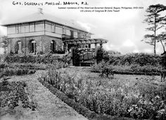 Summer residence of the American Governor-General, Baguio, Philippines, US Library of Congress Philippine Architecture, Spanish Colonial Homes, Filipino Culture, Baguio, Library Of Congress, Vintage Pictures, Old Photos, Philippines, Mansions